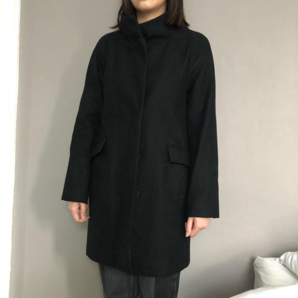 Zara black long coat