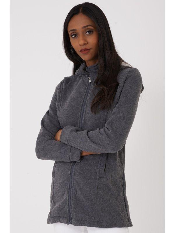 Hooded zipper in grey