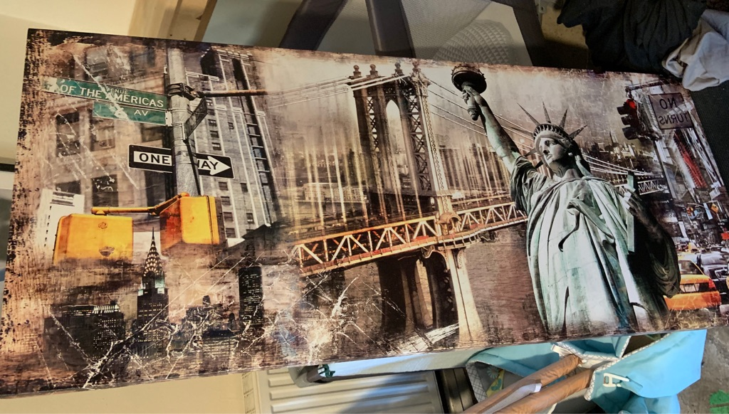 Large NYC themed wall art - box frame canvas