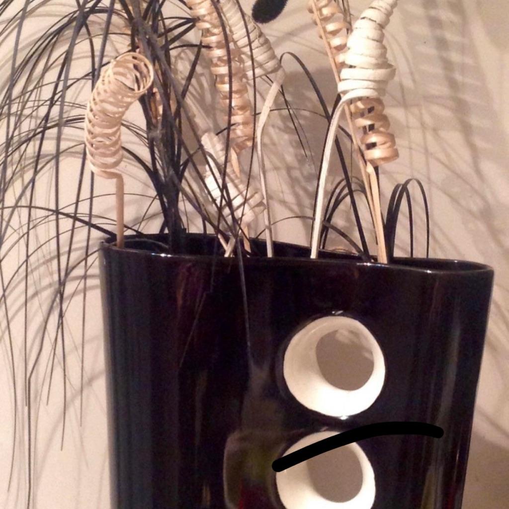 Black Decorative Vase Ornament