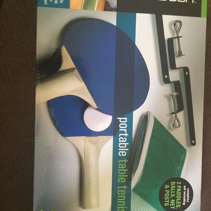 Portable table tennis like new never played I bought it on eBay and never played it or opened it $30