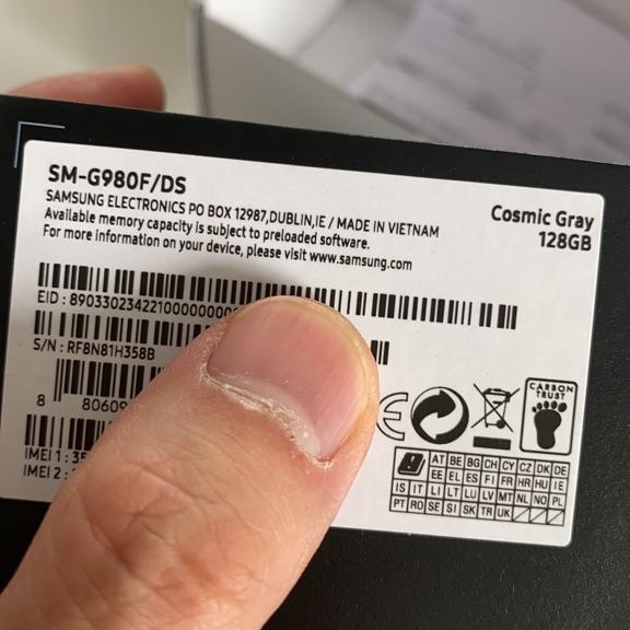 Samsung Galaxy S20 Phone 128G Cosmic Grey