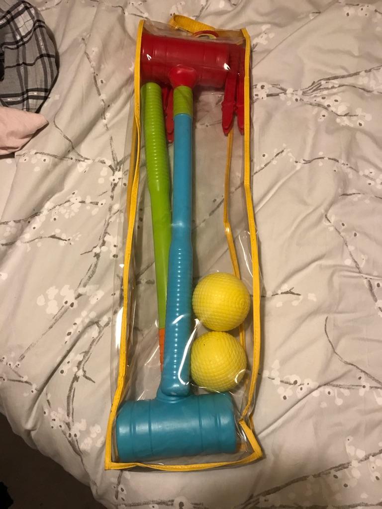 Child's Plastic Croquet Set