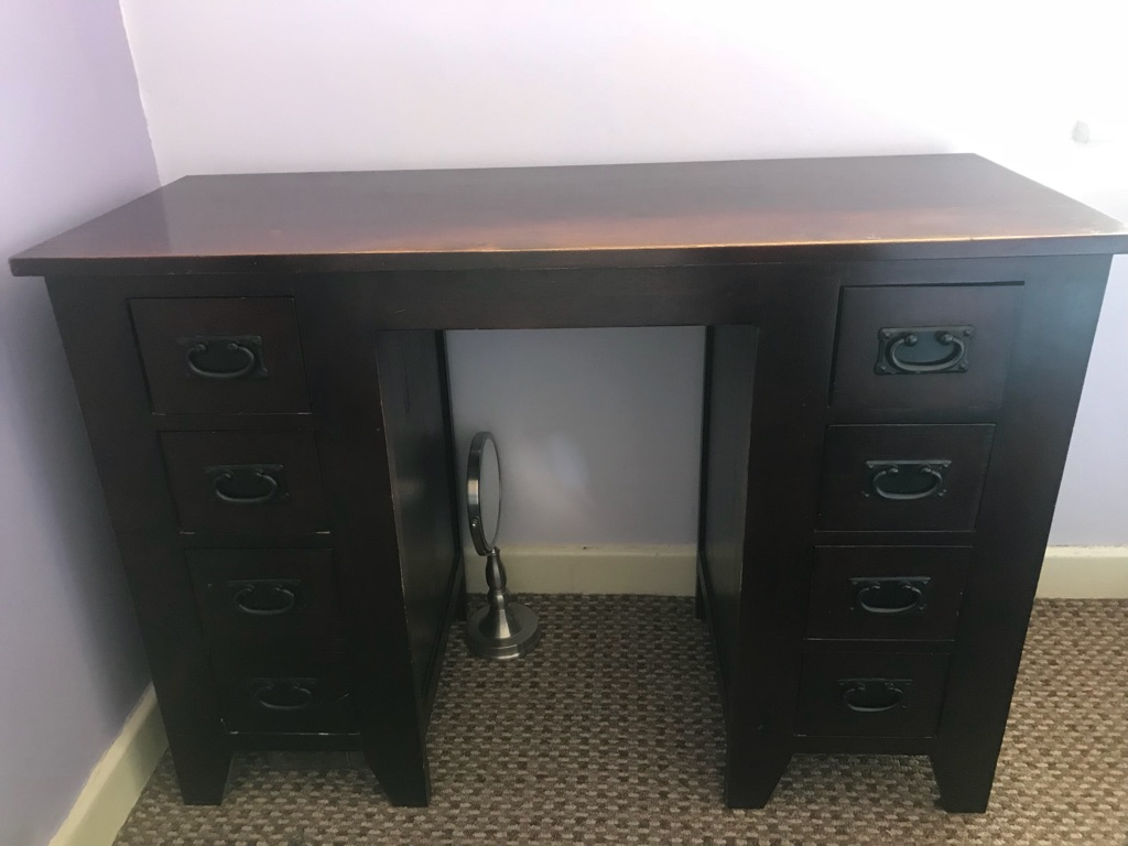 Solid wood writing desk / dressing table