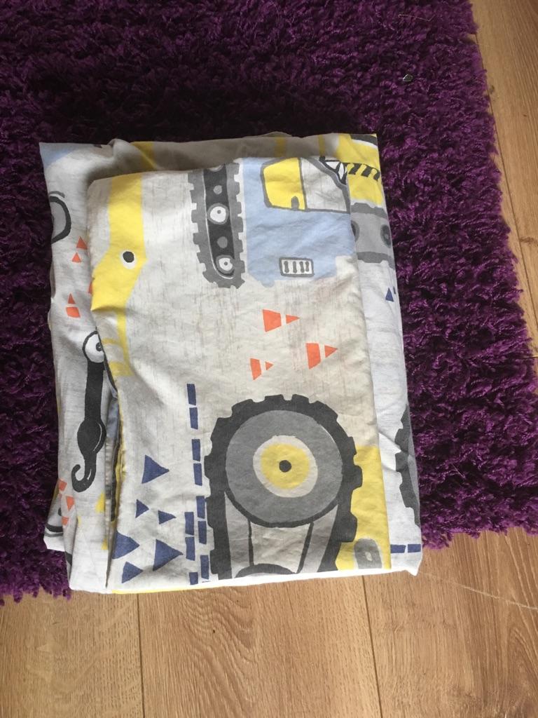 Toddler quilt and digger set