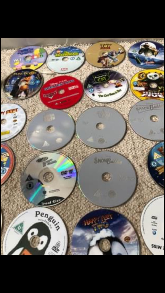 25 various children's DVDs