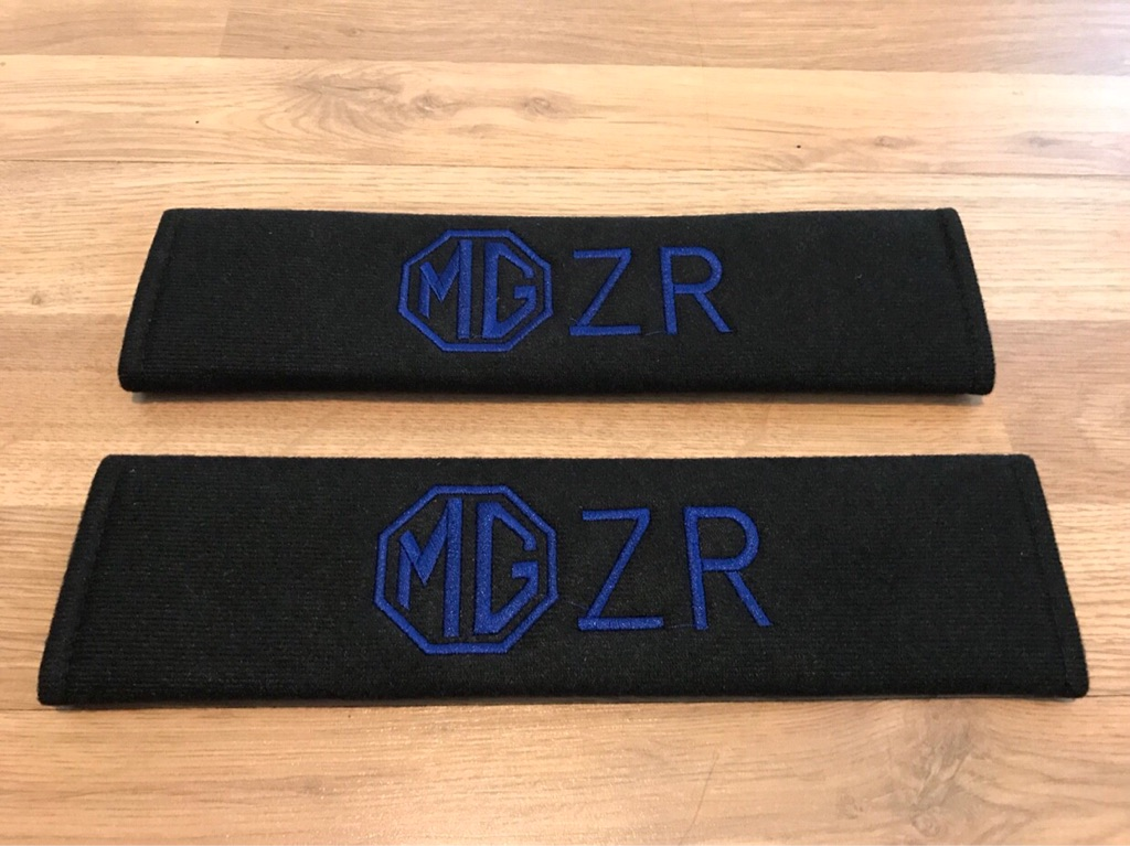 2X Seat Belt Pads Gift MG3 MG6 Morris Garages GS TF ZR ZT ZS MGB MGF