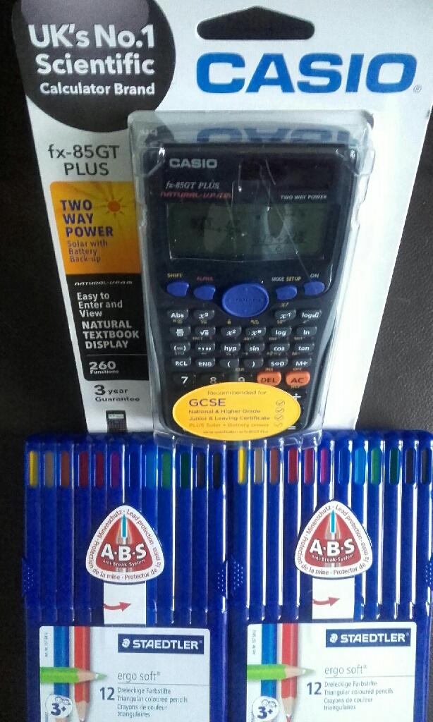 Pencils/ calculator