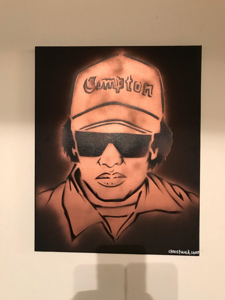 Eazy E 16x20 Graffiti Canvas