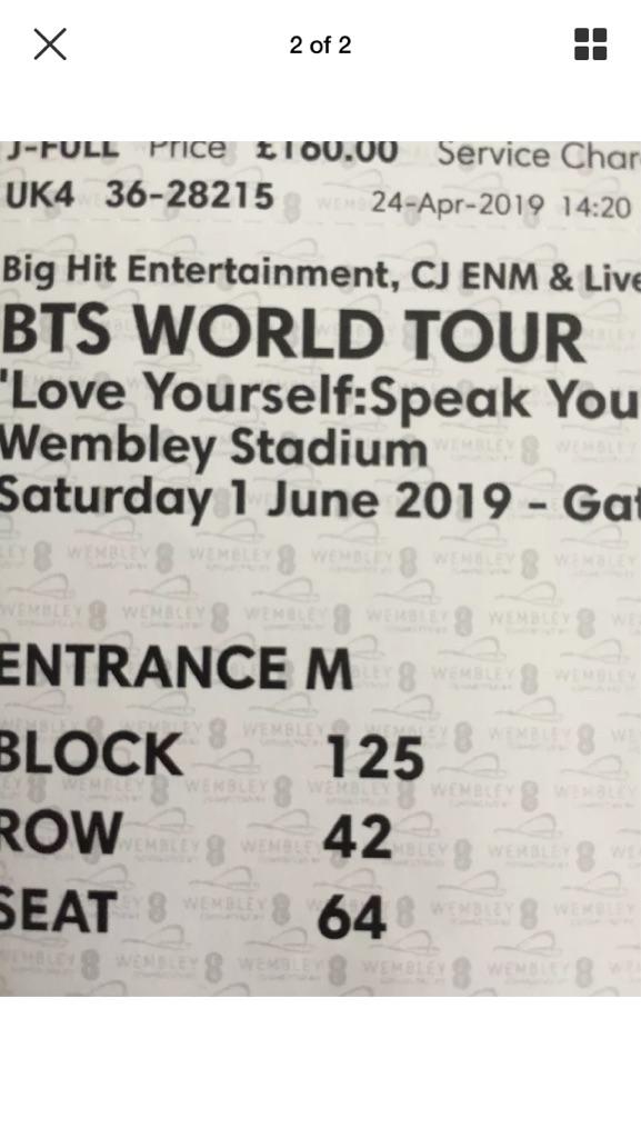 BTS tickets