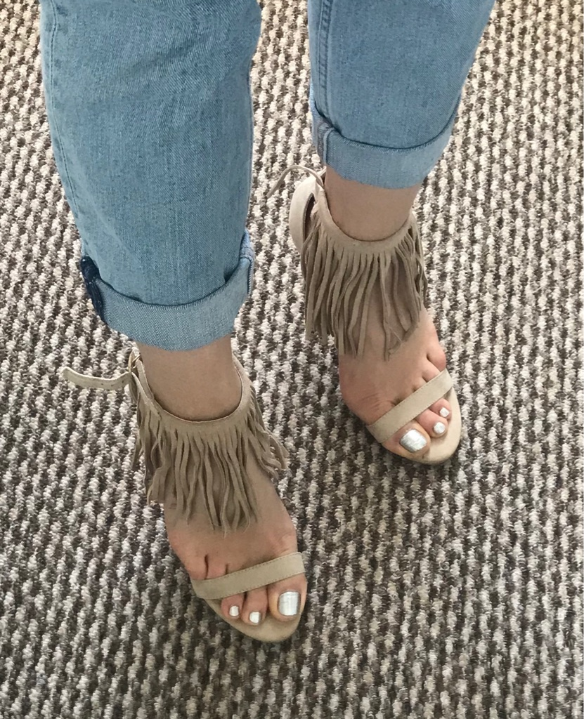 Sinly, Nude High Heeled Sandals, UK size 6
