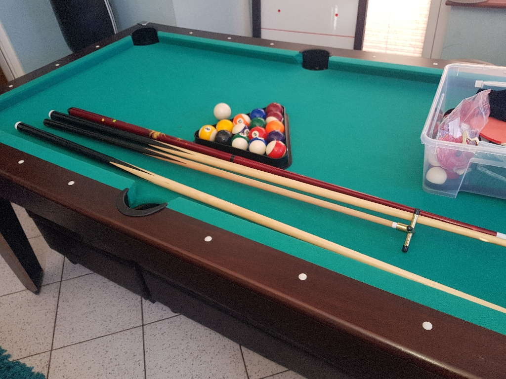 3 in 1 pool table tennis and air hockey