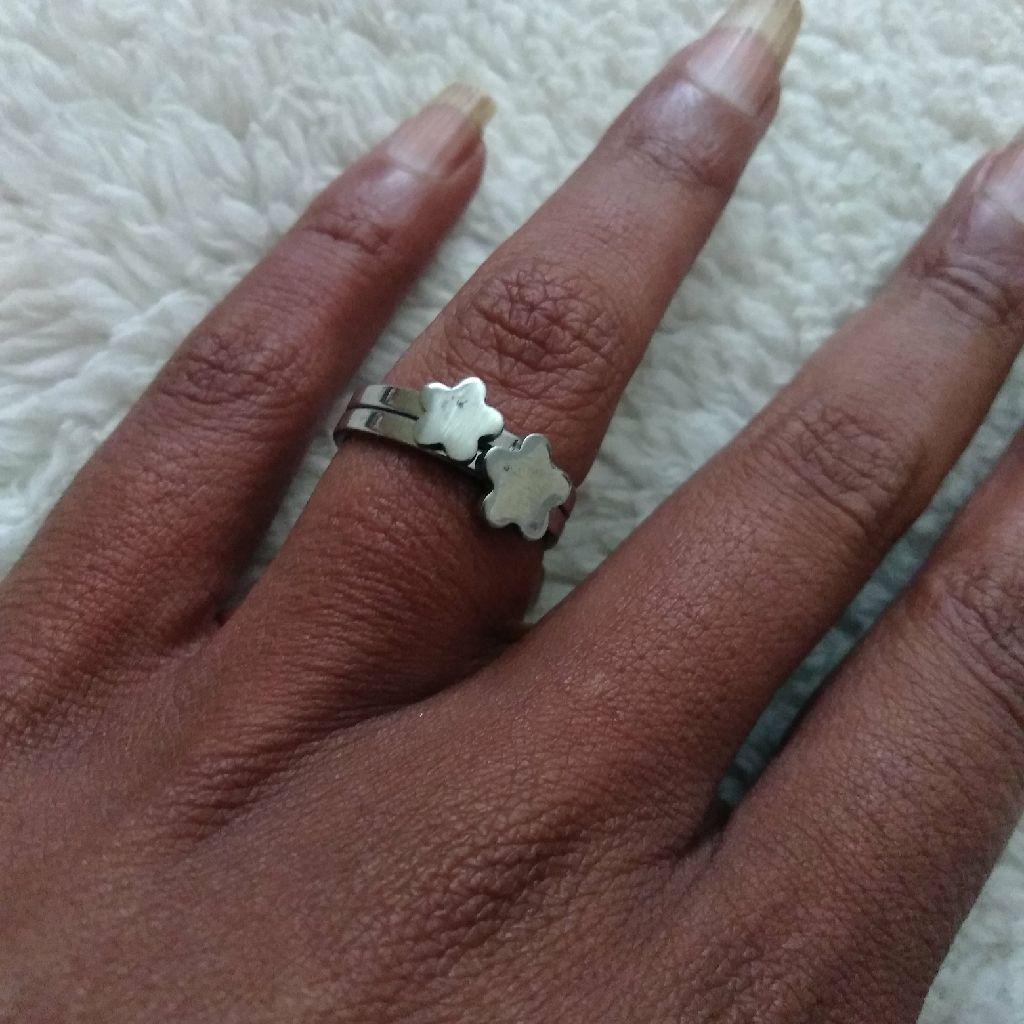 Stainless Steel Flower Ring