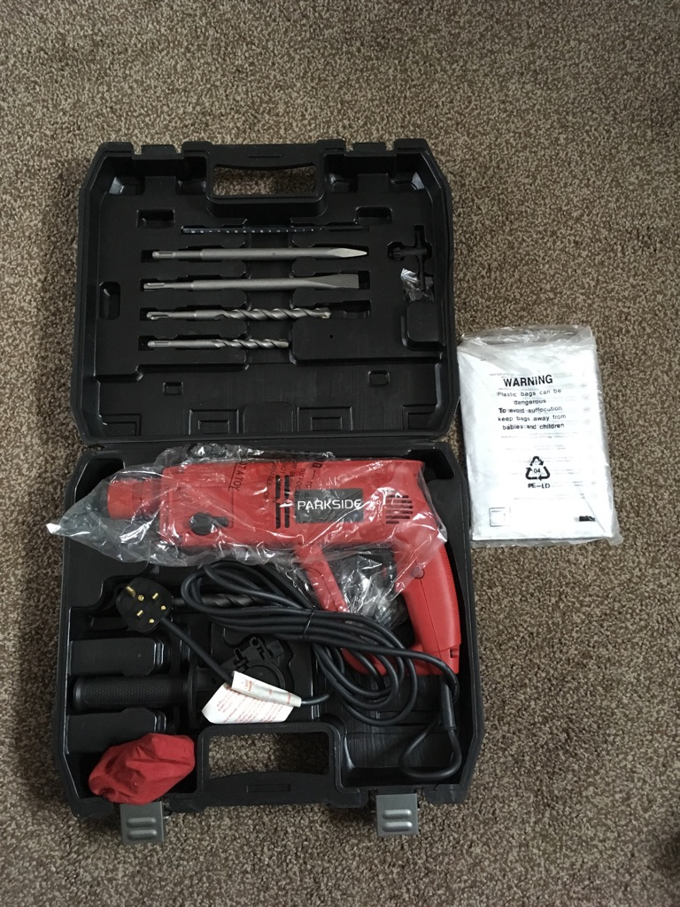 Brand new Parkside Bohrhammer Drill Set