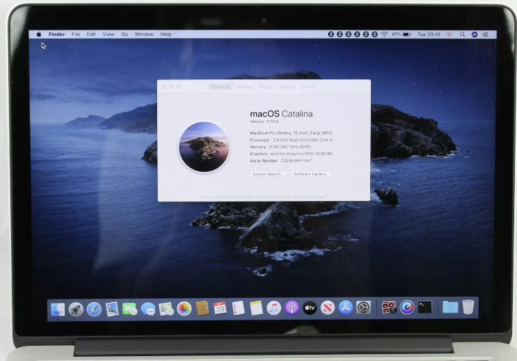 Apple MacBook Pro A1502 256gb