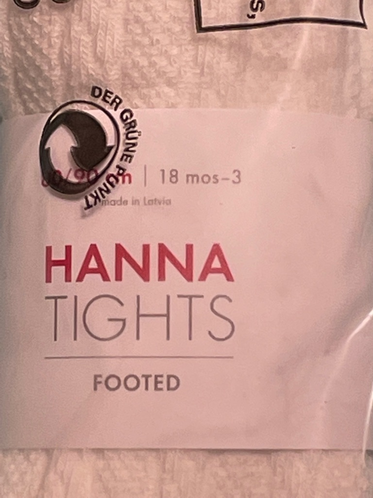 Hanna Andersson Footed Cable Knit Tights