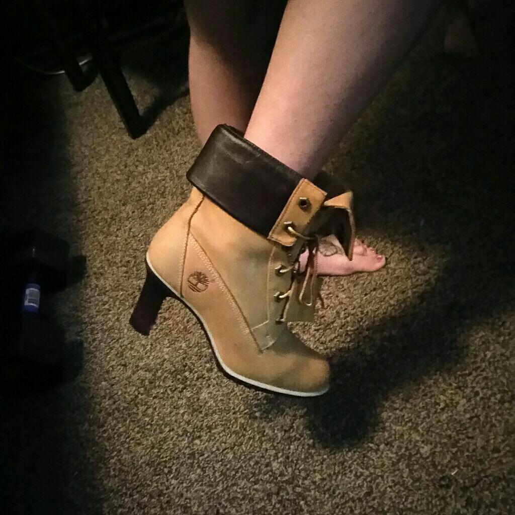 Timberland high heels size 6