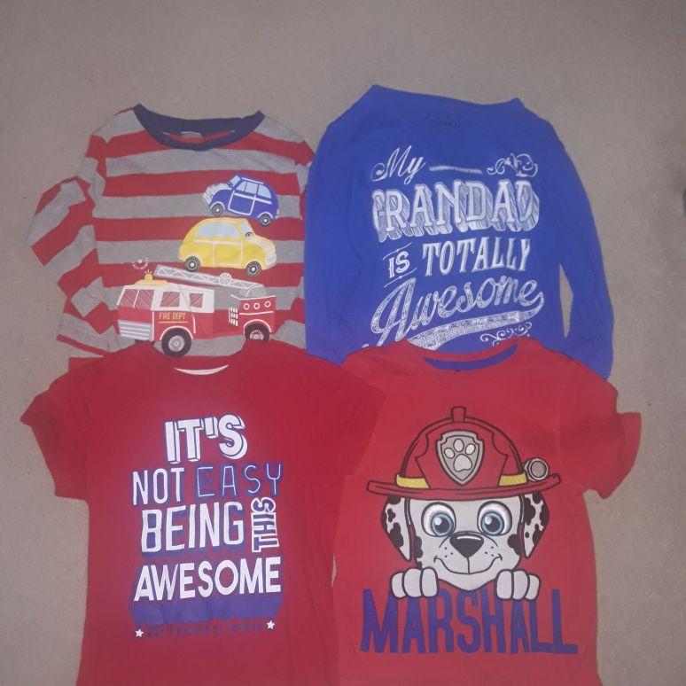 Boys 2 x long and 2 xshort tshirts (3-4yrs)