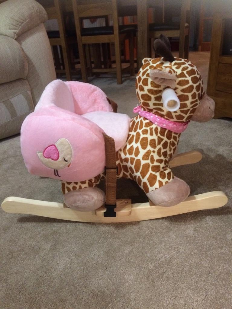 Childs giraffe rocker