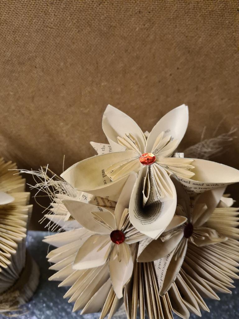 Book art vase