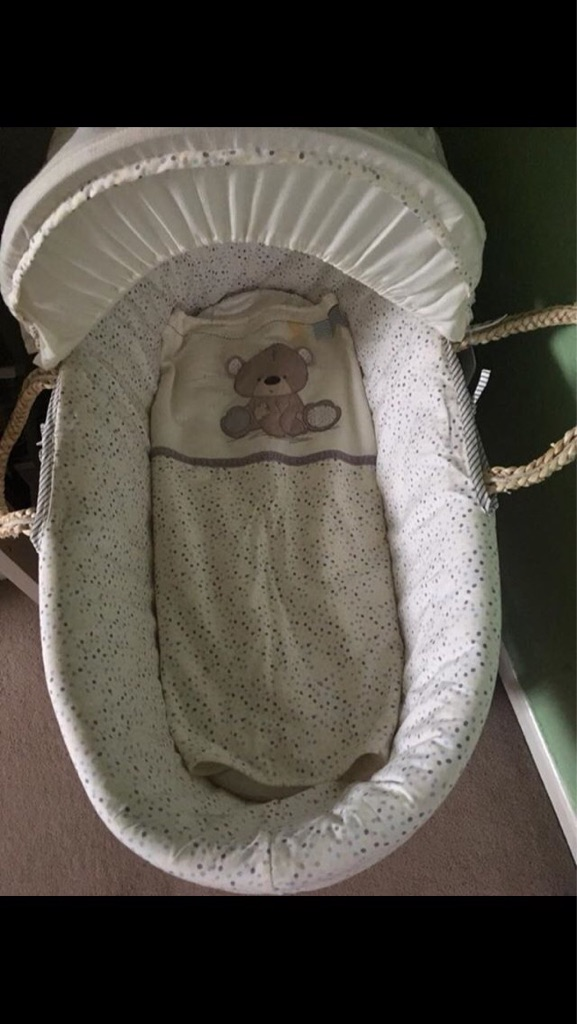 Mother care Moses basket with rocking stand