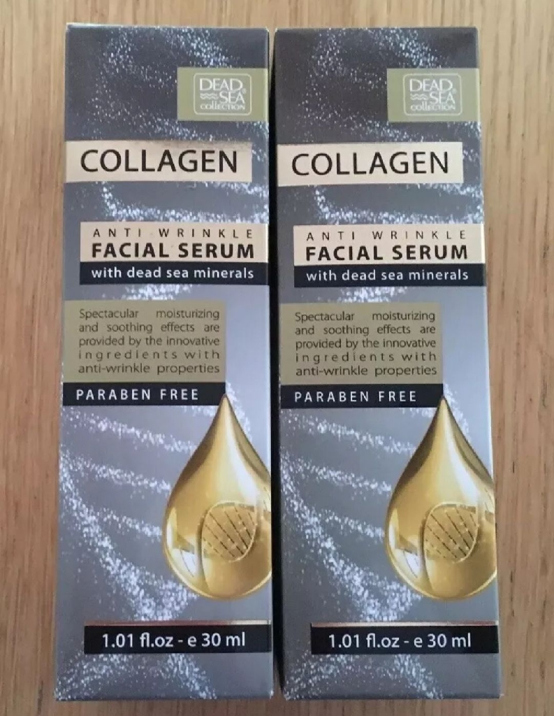 Anti Wrinkle Facial Serum Collagen From Dead Sea Collection Paraben Free X2 30ml