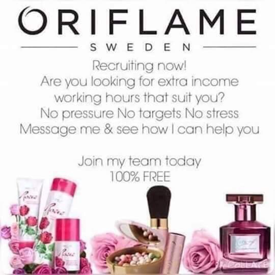 Oriflame reps wanted