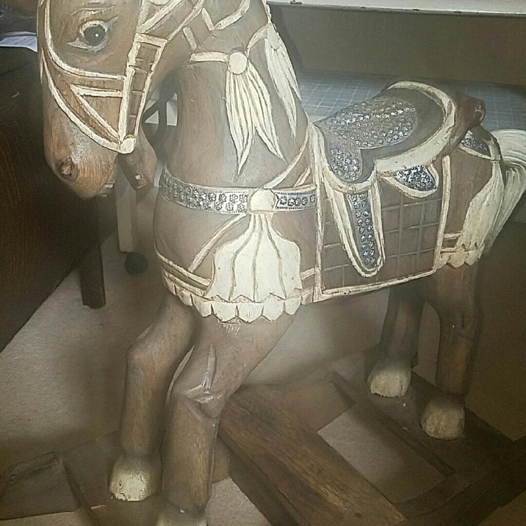 Beautiful wooden rocking horse