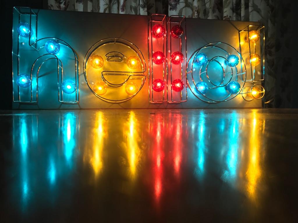 LED 'hello' light
