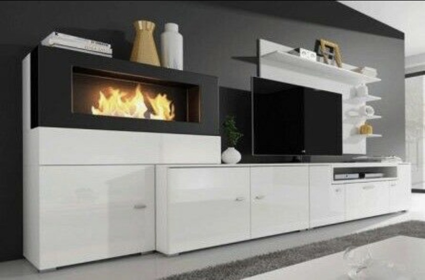 Bioethanol fireplace from living room unit - Whitechapel