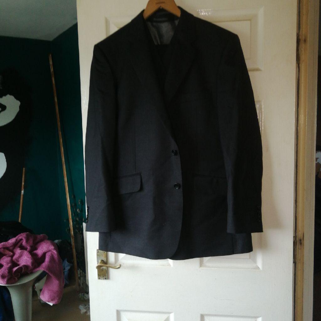 Men's new three piece suit black
