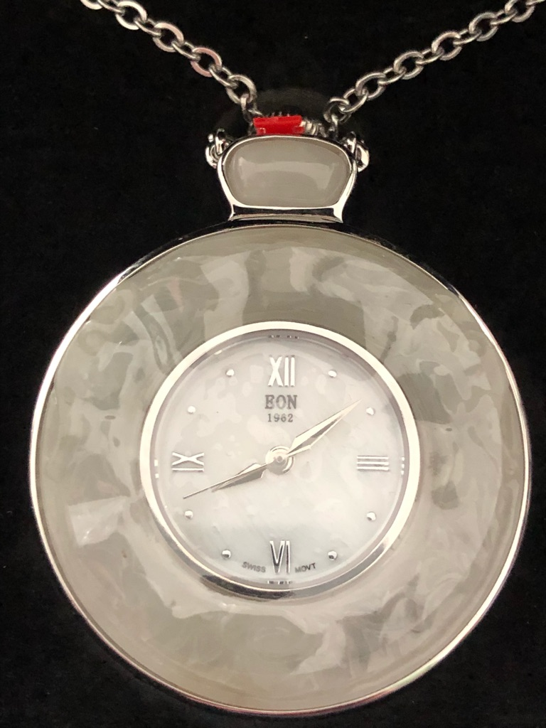 Real white Or Purple Jade Watch silver 925 & Stainless Steel New