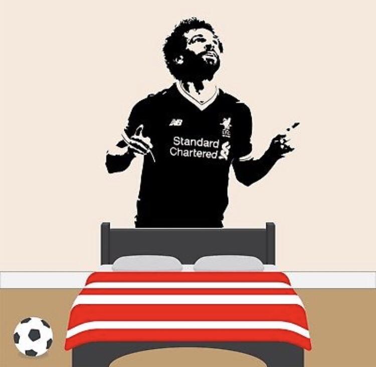 Liverpool football player wall vinyl sticker