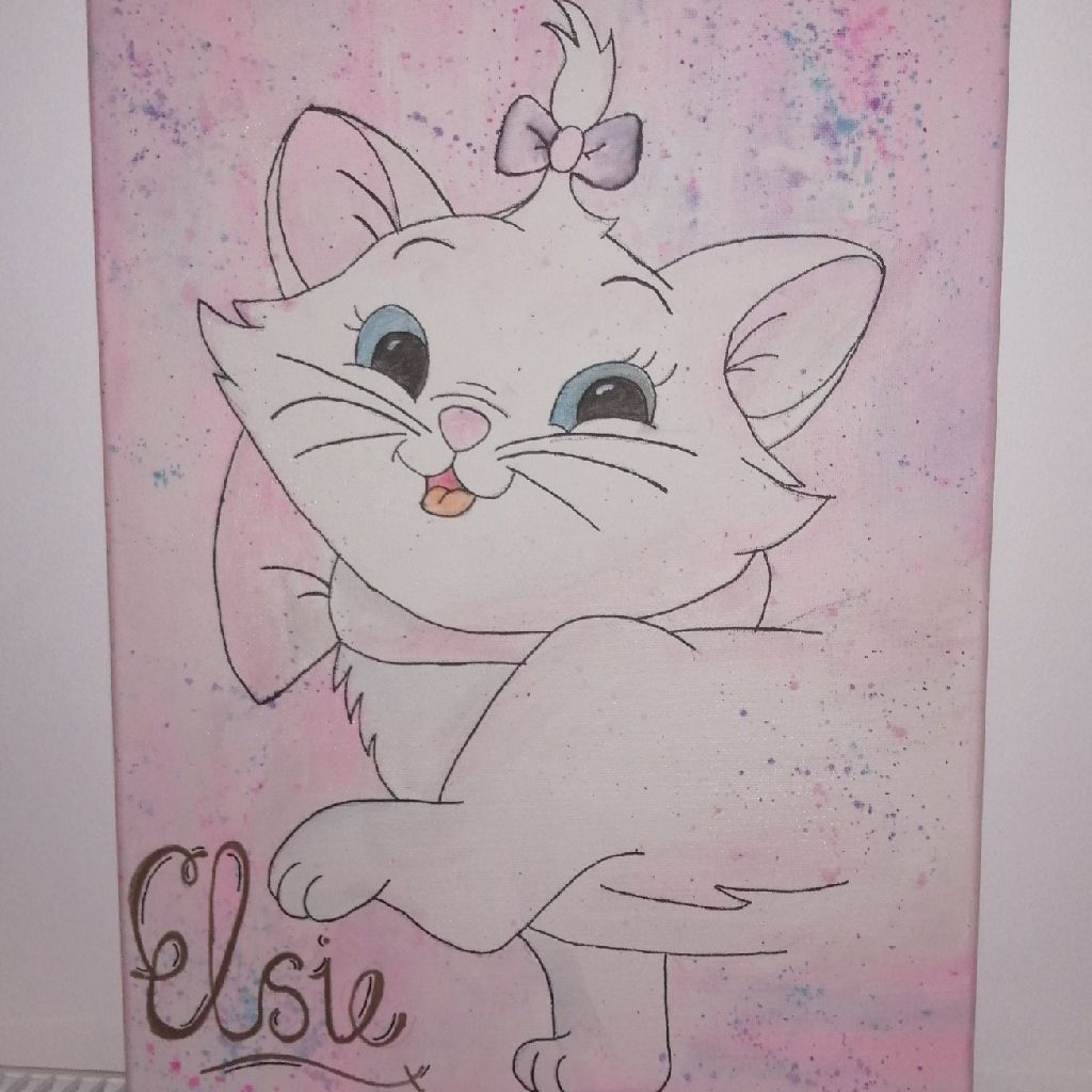 Hand painted Personalised Disney Canvas