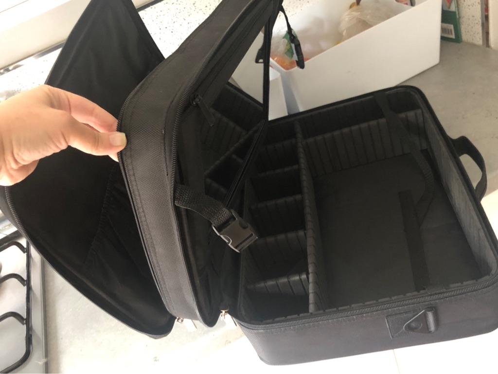 Professional Makeup Artist Bag Makeup Train Case Makeup Organizer Bag -Large Black