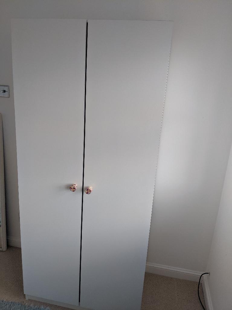 IKEA wardrobe with Anthropologie knobs