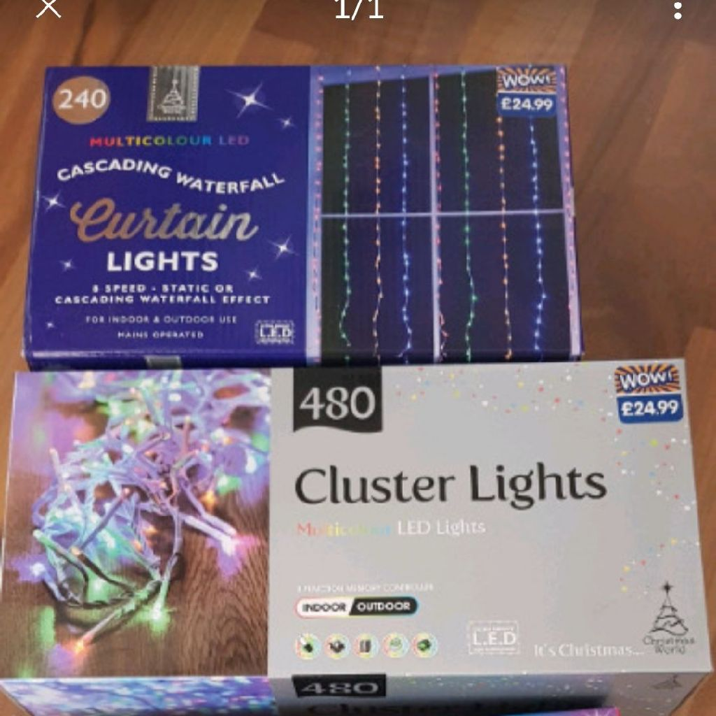 3x christmas lights brand new in box