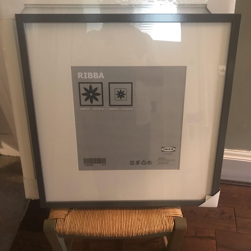 Large black IKea Ribba frame. 50x50cm