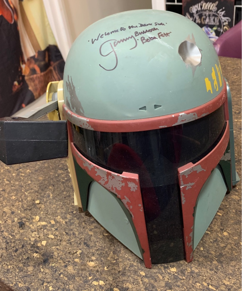 STAR WARS BOBA FETT SIGNED HELMET