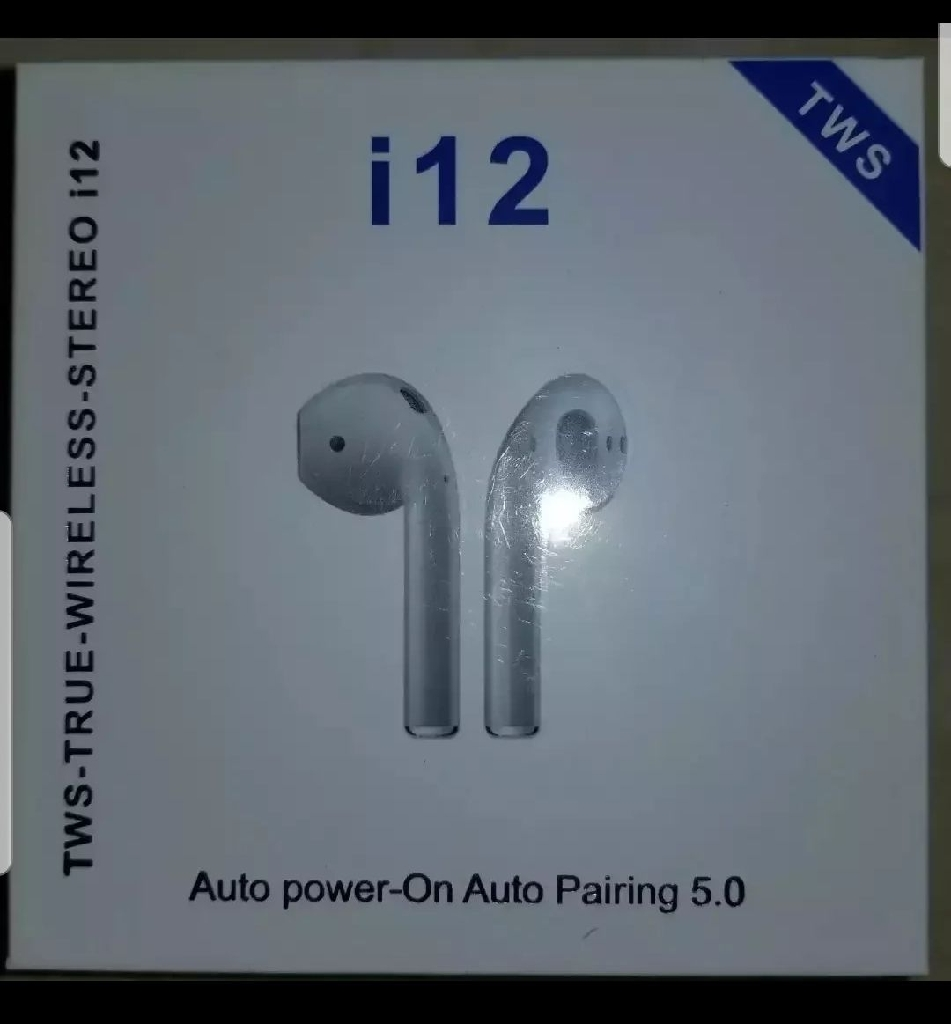 i12 TWS Wireless Earphone Bluetooth 5.0 Touch Earbuds Headset with Charger Box