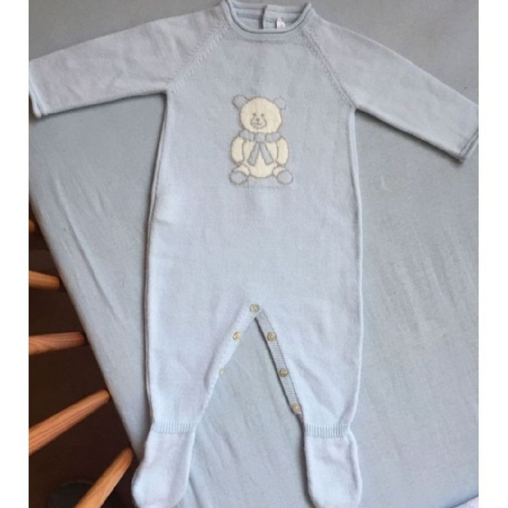 Boys Spanish fine knit baby grow