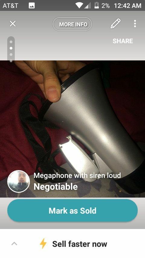 Megaphone with siren