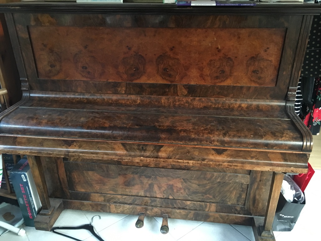 Chappell upright piano with wooden frame