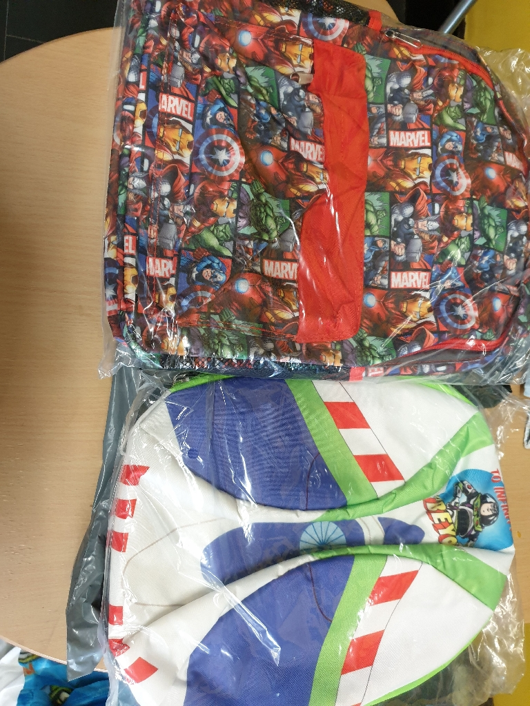 Buzz and avengers bags brand new