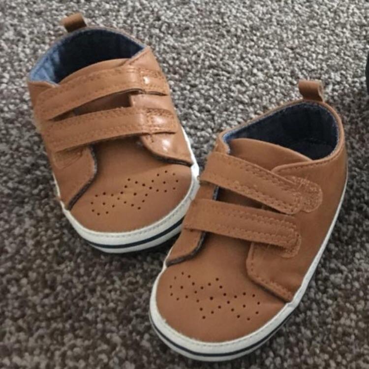 Brand new no tags,  Next Tan pram shoes 12-18 mths