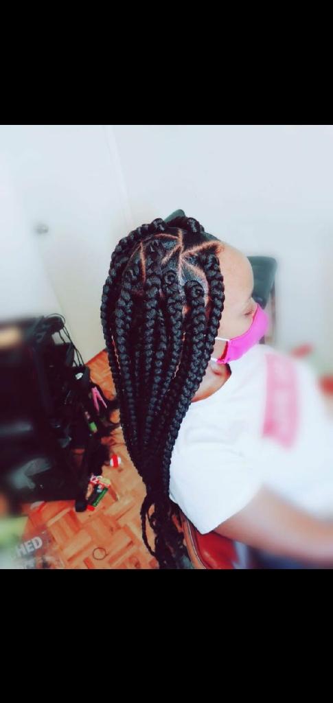 Box braids, cornrows, crochet, wigs,and kids hair .