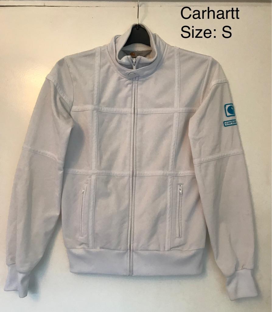 Carhartt White Full Zip Jacket, Size Size S