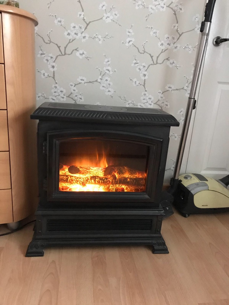 Cast iron electric fire