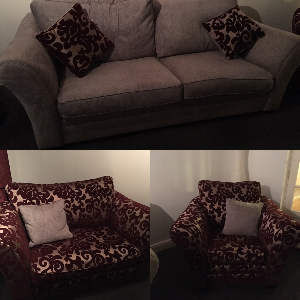 4 seater Sofa, love seat & chair