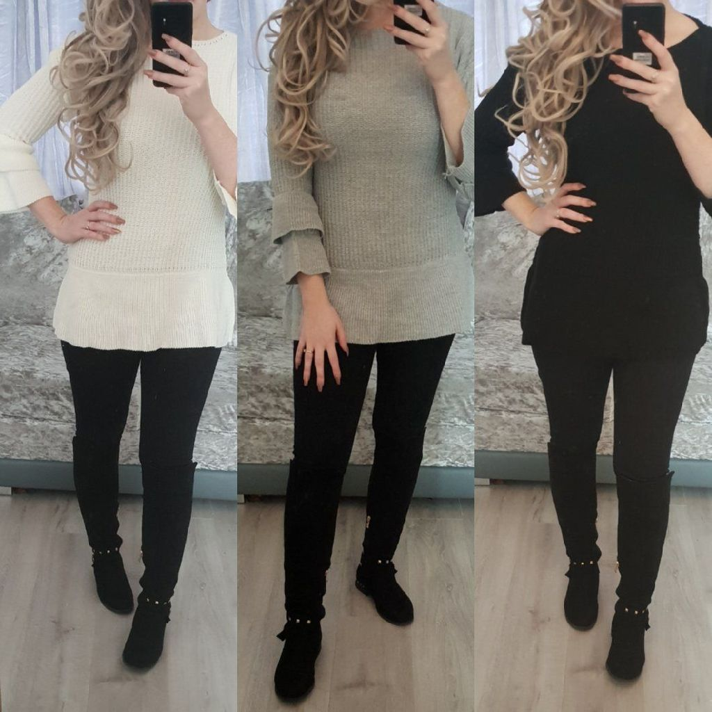 Bell sleeve jumper - 3 colours